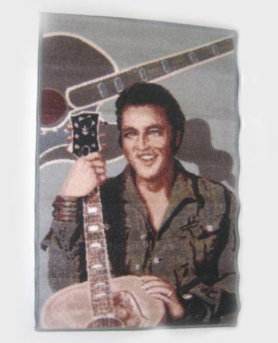 Elvis Pictures Gray Area Rug - 39