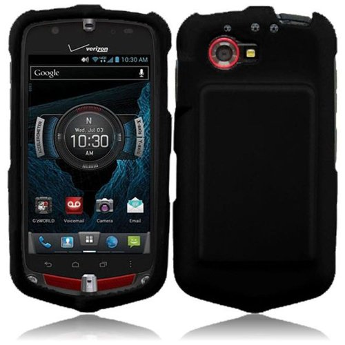 Hr Wireless Rubberized Cover Case For Casio G'Zone Commando 4G Lte C811 - Retail Packaging - Black