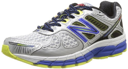 New Balance Mens Running Shoes M860SB4 Silver/Blue 9.5 UK, 44 EU