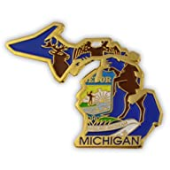 State Shape of Michigan and Michigan…