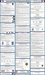 2017 Iowa State and Federal Labor Law Poster - Laminated 24\