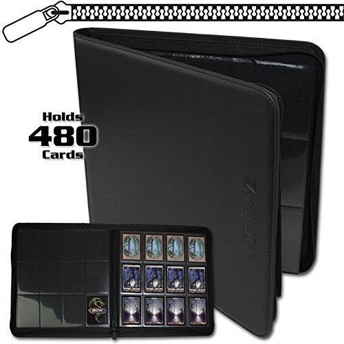 BCW-Z-Folio-LX-Zipper-Portfolio-12-Pocket-Playset-Album-Black