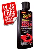 Meguiars Motorcycle Liquid Wax Wet Look Kit **FREE APP PAD & POLISHING CLOTH**