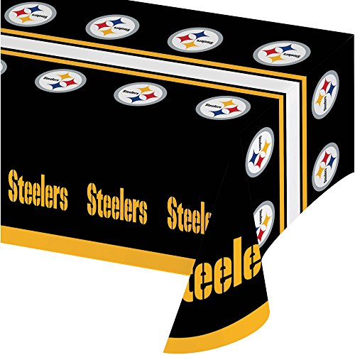 "Pittsburgh Steelers Table Cover Tailgate 54"" x 102"" from Creative"