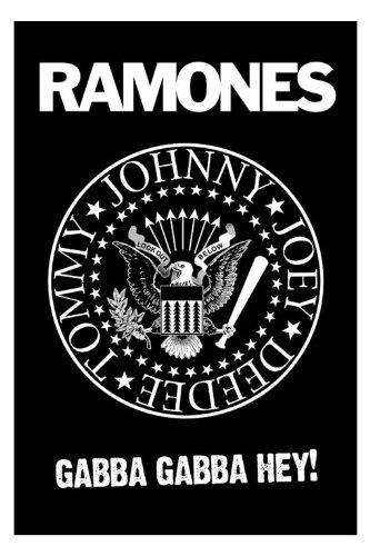 "The Ramones-B & W, Logo Poster, 61 x 91,5 Cm/Poster """