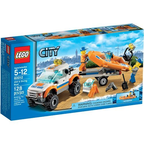 LEGO City Coast Guard 4x4 & Diving Boat Play Set