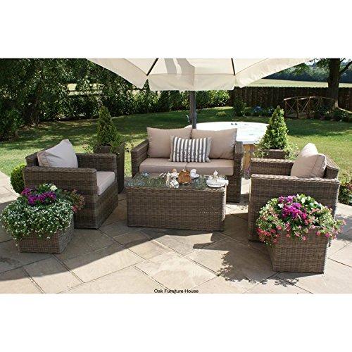 Dorset Rattan-Gartenmöbel, Sitzgruppe, 2-Sitzer, quadratisch
