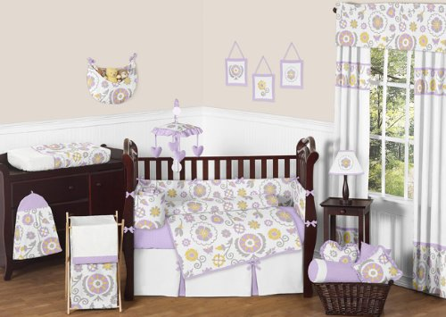 Girls Bedding Purple 2349 front