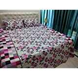 JMT(100% Heavy Stuff Pure Cotton Double Bedsheet With 2 Pillow Cover,size -230x250 Cms, Pillow - 69x46 Cms) - B074D3LVMN