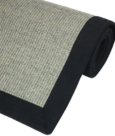 Best Deal Natural Flooring - Charcoal Color Sisal Area Rug w/ Cotton Edge & Latex Backing - 4ft. x 6ft.