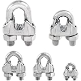 Stainless Steel Commercial Wire Rope Clip Cable Clamp - Choose from 5 Sizes - Type 316 SS