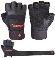 Harbinger 140 Pro WristWrap Glove (Bl…
