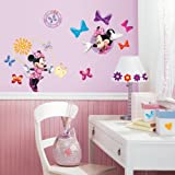 Roommates Mickey And Friends - Minnie Bow-Tique Peel And Stick Wall Decals, Multi Color
