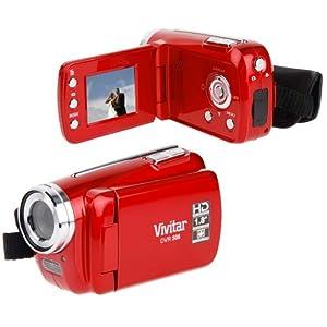 Vivitar 8.1 MP HD 4X Digital Camcorder Recorder 548 w/ 2-inch Screen Red