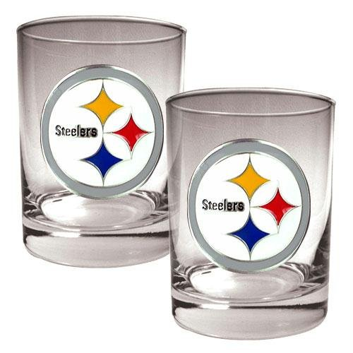 NFL Pittsburgh Steelers Two Piece Rocks Glass Set - Primary Logo (Whiskey Merchandise compare prices)