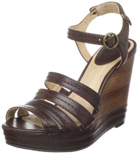 Frye Women's Corrina Stitch Fashion Sandals Brown Marron foncé 7 (41 EU)