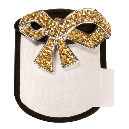 Black Bows Bling Backs Crystal Rhinestone Heels Flats Shoe Jewelry