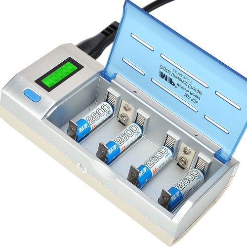Universal Mp-906 Battery Charger With Lcd Display For Rechargeable Aa/Aaa 2A/3A Ni-Mh Ni-Cd Nimh Nicd C/D 9V 6F22 Batteries