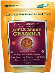 Dixie Carb Counters Sweet Commute Carb Controlled Apple Berry Granola - No Sugar Alcohols!