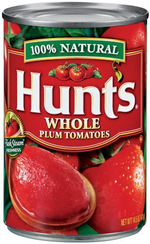 Hunt's Whole Peeled Plum Tomatoes 14.5 Ounce (Pack of 6) (Canned Plum Tomatoes compare prices)
