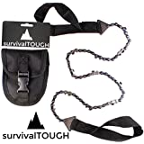 survivalTOUGH- Survival Pocket Chainsaw with Pouch (24-Inch, 36-Inch, and 48-Inch Options)