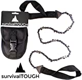 survivalTOUGH- 24-Inch, 36-Inch, and 48-Inch Survival Pocket Chain Saw with Pouch (48 Inch)