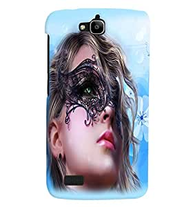 Fuson Pattern Girl Back Case Cover for HUAWEI HONOR HOLLY - D3665