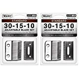 Wahl Professional Animal #30-15-10 Standard Adjustable Blade Set for Wahl's Pro Ion, Iron Horse, Show Pro Plus, U-Clip, and Deluxe U-Clip Pet, Dog, and Horse Clippers (#1037-400) (?wo ?ack) (Tamaño: ?wo ?ack)