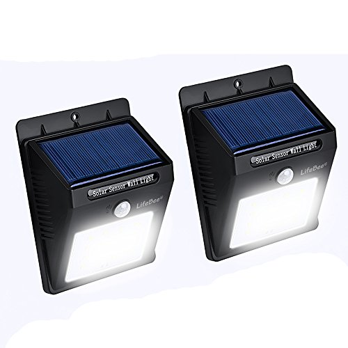 Lifebee Garden Decor Solar Light, Super Bright 16 LED Waterproof Powered with Motion Sensor Security Lights for Outdoor Path Driveway Patio Fencing (2) (Rv Hanging Grill compare prices)