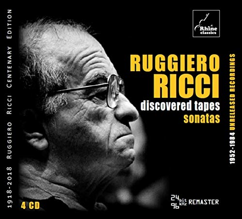 CD : RUGGIERO RICCI - Discovered Tapes: Sonatas (4 Discos)