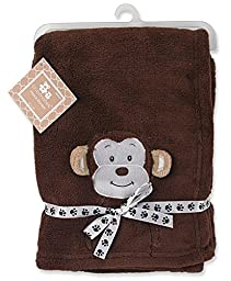 Regent Baby Crib Mates Monkey Blanket, Brown