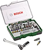 Bosch 2607017160 Screwdriving Set with Mini Ratchet (27 Pieces)