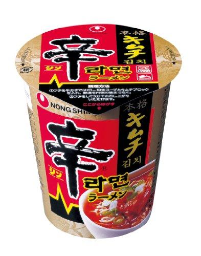 (お徳用ボックス) 農心 辛キムチカップラーメン 75g×12個