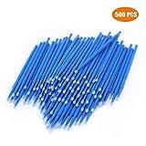 500 PCS Disposable Micro Applicators Brush for Makeup and Personal Care (Head Diameter: 2.5mm)- 5 X 100 PCS (Color: Blue, Tamaño: Large)