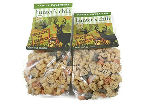 Pasta Shoppe Hunters Chili Soup Mix - Deer, Turkey & Bird Shaped Pasta - 2 Packages