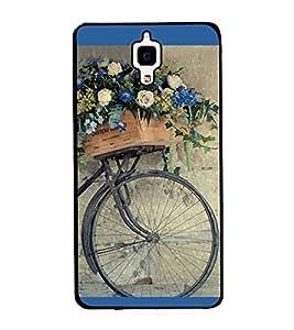 Flowers on a Cycle 2D Hard Polycarbonate Designer Back Case Cover for Xiaomi Redmi Mi 4 :: Redmi Mi 4
