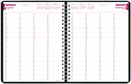 Blueline Daily Professional Appointment Book for 2014, Twin-Wire, 11 x 8.5 inches, Black (CB960.BLK)