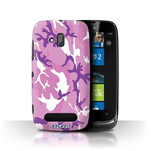 Stuff4 Hülle / Hülle für Nokia Lumia 610 / Rosa 4 Muster / Armee/Tarnung Kollektion