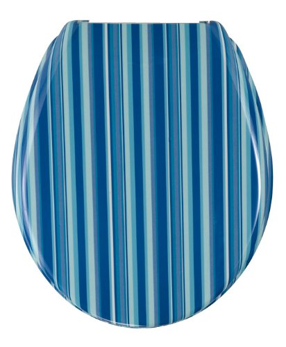 Wenko Change Strips Toilet Seat, Blue