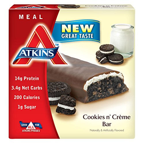 Atkins advantage cookies n creme meal bar 5 count bars for Atkins cuisine baking mix