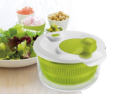 Large Salad Spinner, Handy Multi-Use Kitchen Tool That Also Drains Pasta, Grains, Beans, Fruits, & Vegetables, 5.0 Quart Bowl, By Jobox (Washer And Dryer Second Hand compare prices)