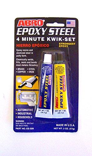 ABRO resina epossidica, in acciaio, di 4 minuti Kwik livello AUTOMOTIVE più forte ES-509 resina epossidica