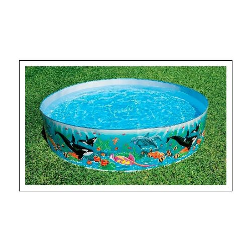 Round 15 deep color reef snapset pool home garden spa for Deep swimming pools for garden