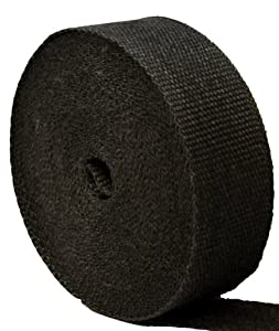 "Thermo-Tec 11023 2"" X 100' Black Graphite Wrap by Thermo-Tec"