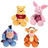 Disney Winnie The Pooh 20cm Collection of 4 toys: Winnie, Piglet, Eeyore & Tigger