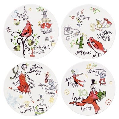 Lenox 12 Days Of Christmas Dessert Plates