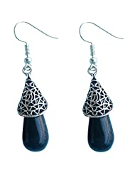 Deara Women's Filigree Enchantment In Black Earrings