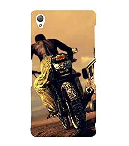 Bike Racing 3D Hard Polycarbonate Designer Back Case Cover for Sony Xperia Z3 :: Sony Xperia Z3 D6653 D6603