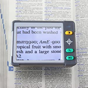 'ULTRA-VISION' Brand 3.5 Inch Color Portable Video Magnifier For Low Vision Aid ,4 Hrs. of Battery Use