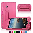 Infiland Folio PU Leather Slim Fit Stand Case Cover for 7inch Verizon Ellipsis 7 4G LTE Tablet,Magenta
